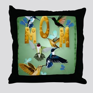MOM-For to the birds Throw Pillow